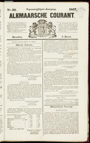 Alkmaarsche Courant 1857-03-09