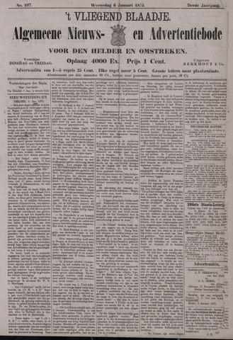 Vliegend blaadje : nieuws- en advertentiebode voor Den Helder 1875-01-06