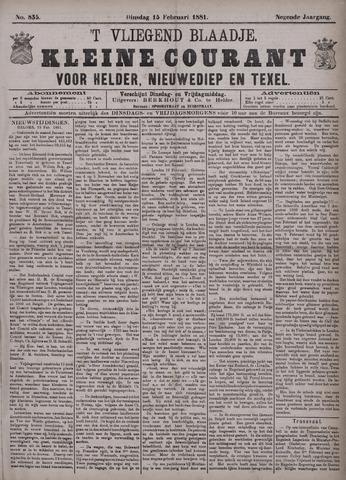 Vliegend blaadje : nieuws- en advertentiebode voor Den Helder 1881-02-15