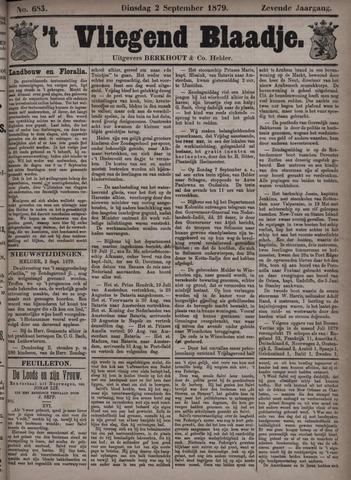 Vliegend blaadje : nieuws- en advertentiebode voor Den Helder 1879-09-02