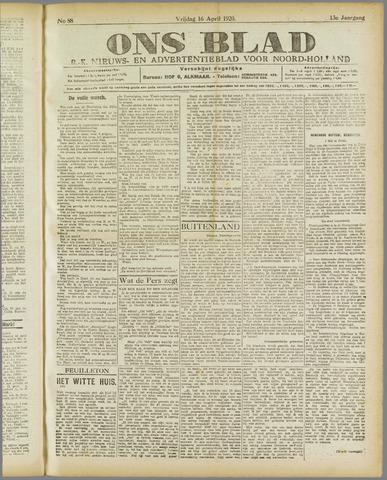 Ons Blad : katholiek nieuwsblad voor N-H 1920-04-16