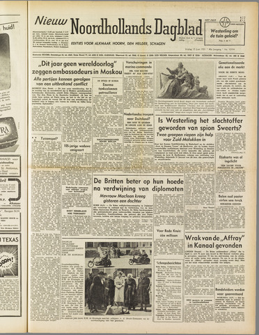 Nieuw Noordhollandsch Dagblad : voor Alkmaar en omgeving 1951-06-15