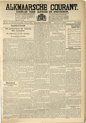 Alkmaarsche Courant 1934-09-06