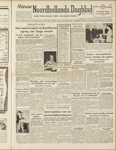 Nieuw Noordhollandsch Dagblad : voor Alkmaar en omgeving 1949-06-11