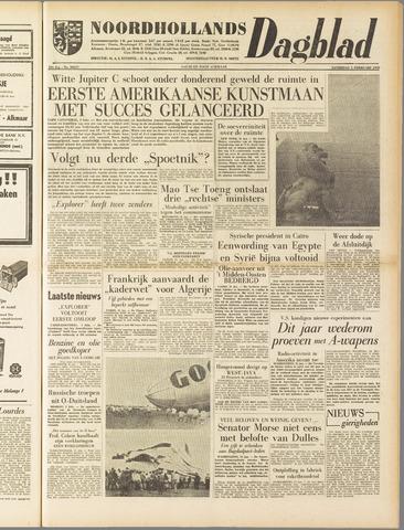 Noordhollands Dagblad : dagblad voor Alkmaar en omgeving 1958-02-01