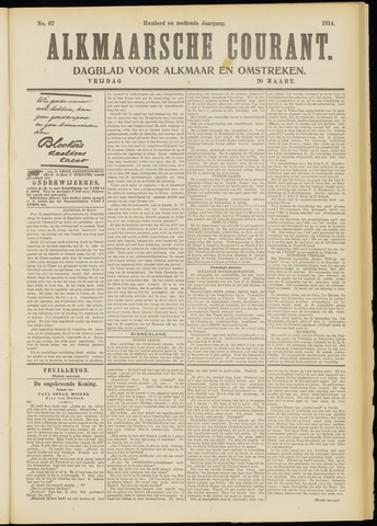Alkmaarsche Courant 1914-03-20