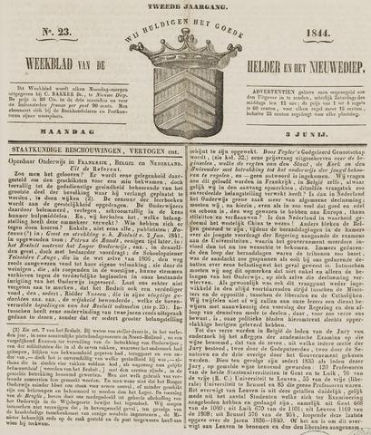 Weekblad van Den Helder en het Nieuwediep 1844-06-03