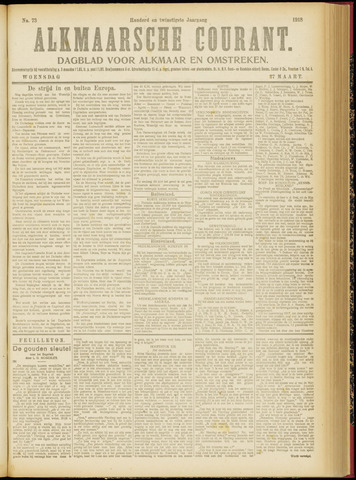 Alkmaarsche Courant 1918-03-27