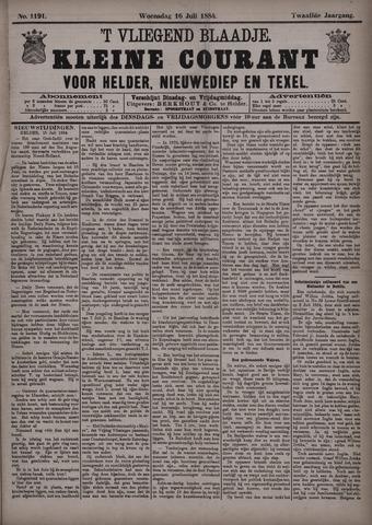 Vliegend blaadje : nieuws- en advertentiebode voor Den Helder 1884-07-16