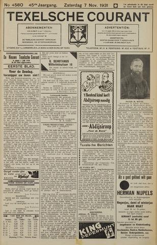 Texelsche Courant 1931-11-07
