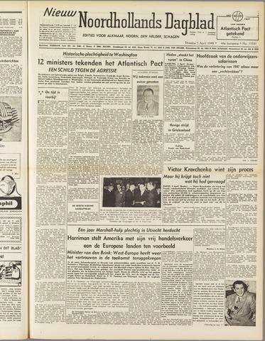 Nieuw Noordhollandsch Dagblad : voor Alkmaar en omgeving 1949-04-05