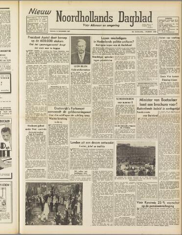 Nieuw Noordhollandsch Dagblad : voor Alkmaar en omgeving 1947-11-21