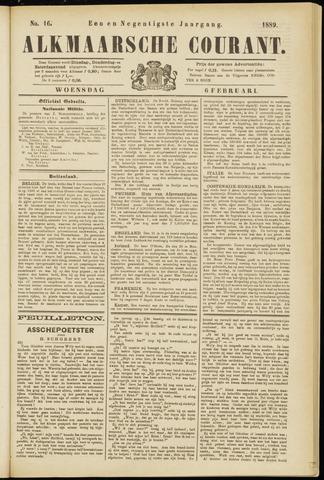 Alkmaarsche Courant 1889-02-06