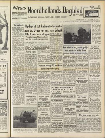 Nieuw Noordhollandsch Dagblad : voor Alkmaar en omgeving 1951-02-03