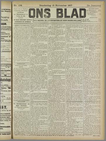 Ons Blad : katholiek nieuwsblad voor N-H 1917-11-15