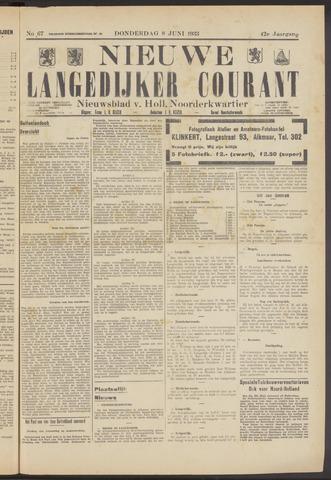 Nieuwe Langedijker Courant 1933-06-08