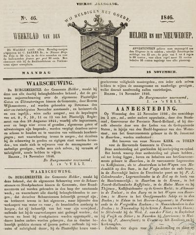 Weekblad van Den Helder en het Nieuwediep 1846-11-16