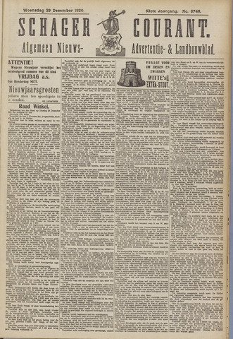 Schager Courant 1920-12-29