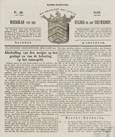 Weekblad van Den Helder en het Nieuwediep 1853-11-14