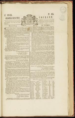 Alkmaarsche Courant 1845-11-10