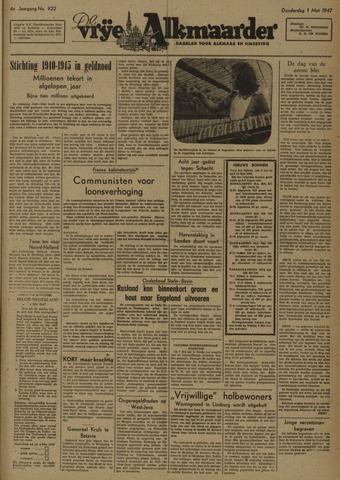 De Vrije Alkmaarder 1947-05-01