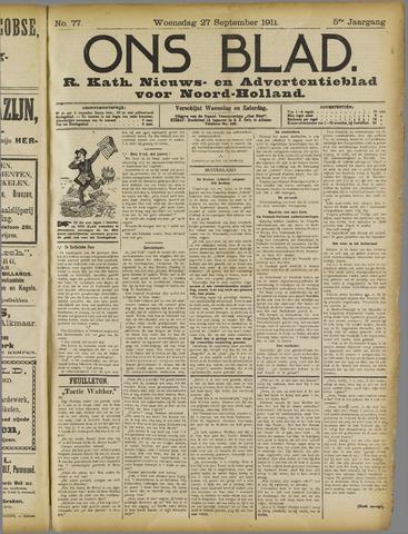 Ons Blad : katholiek nieuwsblad voor N-H 1911-09-27