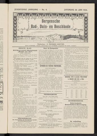 Bergensche bad-, duin- en boschbode 1926-06-26