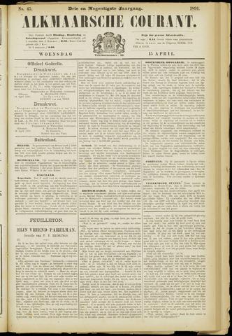Alkmaarsche Courant 1891-04-15