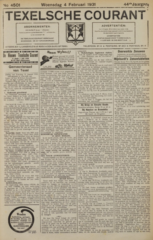 Texelsche Courant 1931-02-04