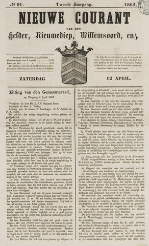 Nieuwe Courant van Den Helder 1862-04-12