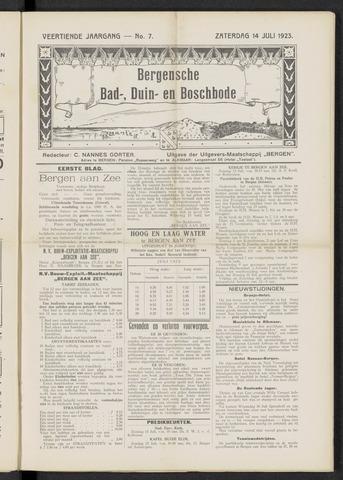 Bergensche bad-, duin- en boschbode 1923-07-14