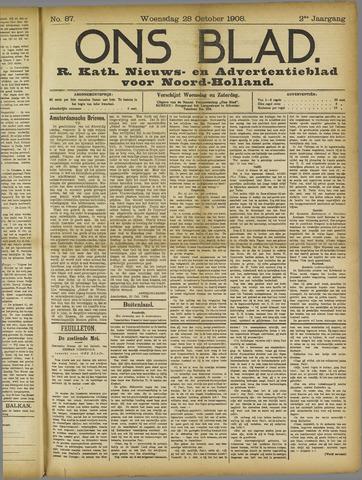 Ons Blad : katholiek nieuwsblad voor N-H 1908-10-28