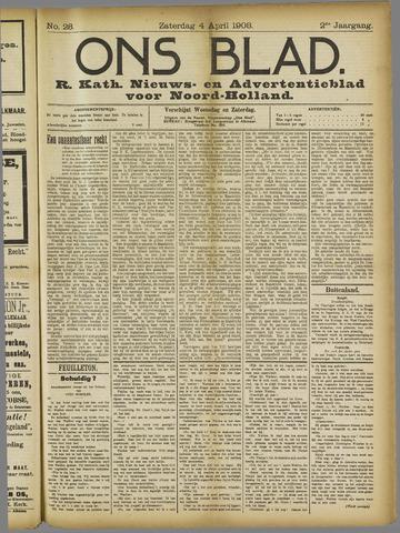 Ons Blad : katholiek nieuwsblad voor N-H 1908-04-04