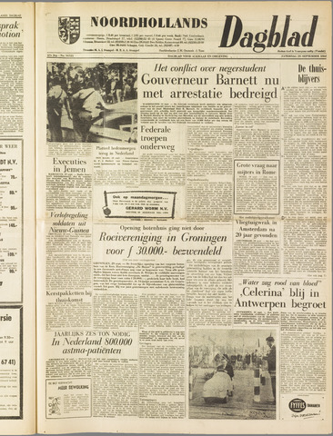 Noordhollands Dagblad : dagblad voor Alkmaar en omgeving 1962-09-29
