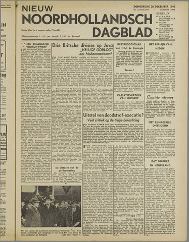 Nieuw Noordhollandsch Dagblad : voor Alkmaar en omgeving 1945-12-20