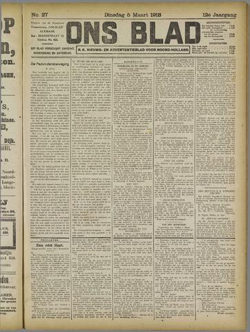 Ons Blad : katholiek nieuwsblad voor N-H 1918-03-05