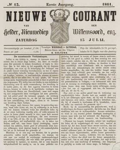 Nieuwe Courant van Den Helder 1861-07-13