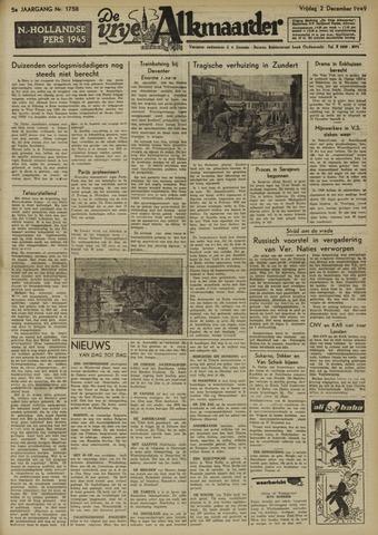 De Vrije Alkmaarder 1949-12-02