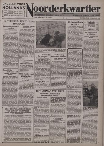 Dagblad voor Hollands Noorderkwartier 1942-01-15