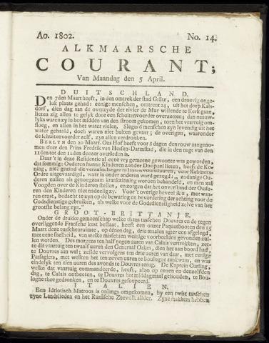 Alkmaarsche Courant 1802-04-05
