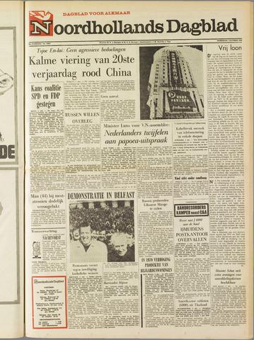 Noordhollands Dagblad : dagblad voor Alkmaar en omgeving 1969-10-01
