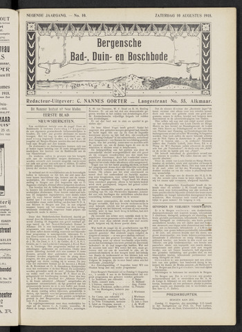 Bergensche bad-, duin- en boschbode 1918-08-10