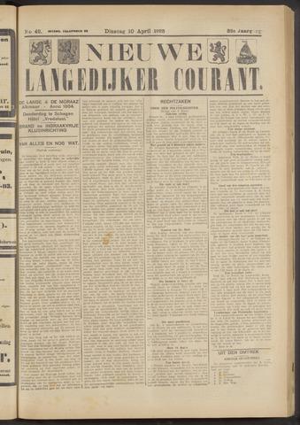 Nieuwe Langedijker Courant 1923-04-10