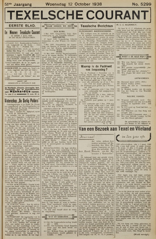Texelsche Courant 1938-10-12