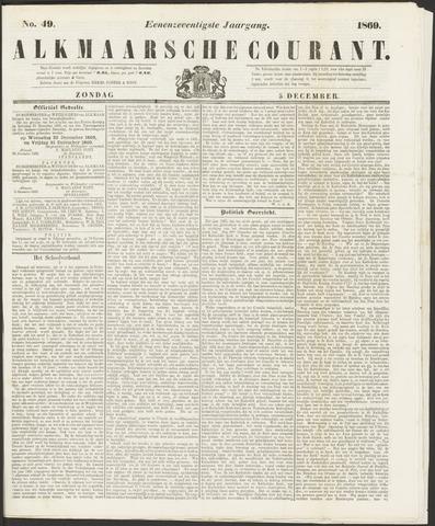 Alkmaarsche Courant 1869-12-05
