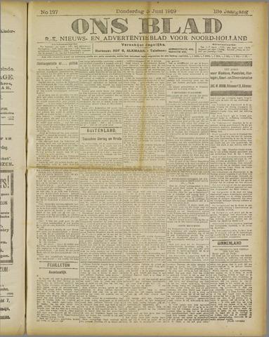 Ons Blad : katholiek nieuwsblad voor N-H 1919-06-05