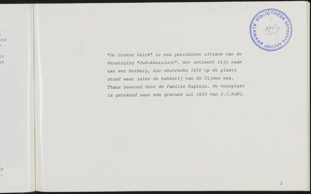 De Groene Valck 1984-01-01