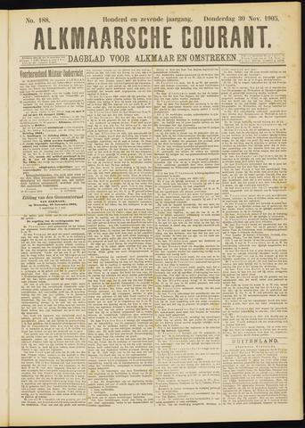 Alkmaarsche Courant 1905-11-30