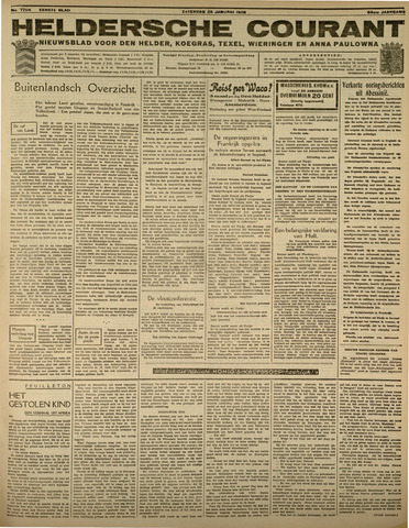 Heldersche Courant 1936-01-25