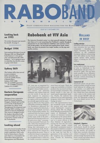 blad 'Raboband International' (EN) 1993-12-13